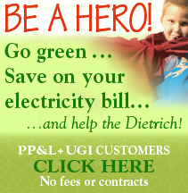 Go Green and Help The Dietrich Theater